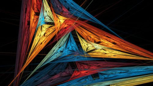 Wallpaper Abstract Fractal Triangulate